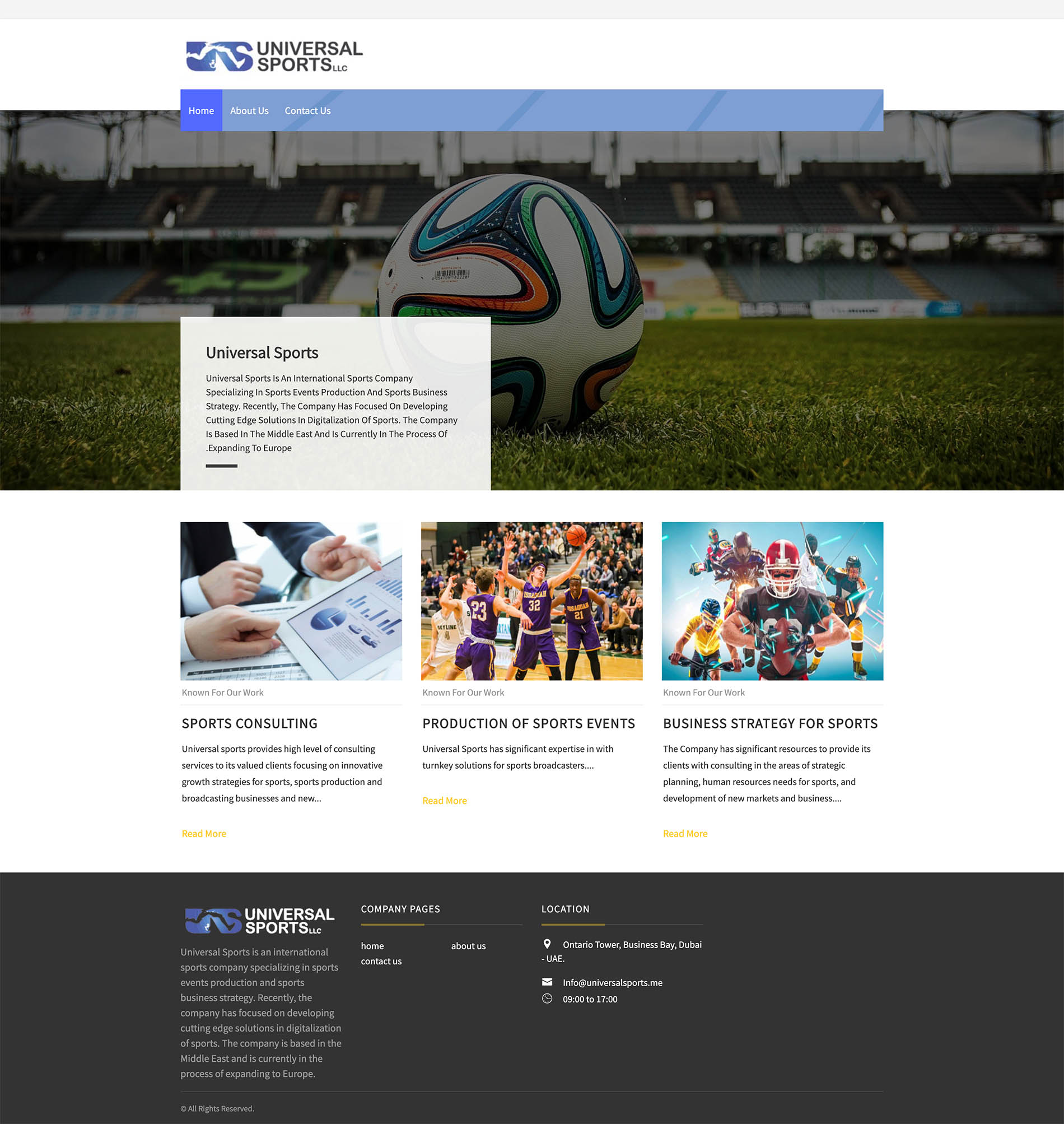 universal sports website